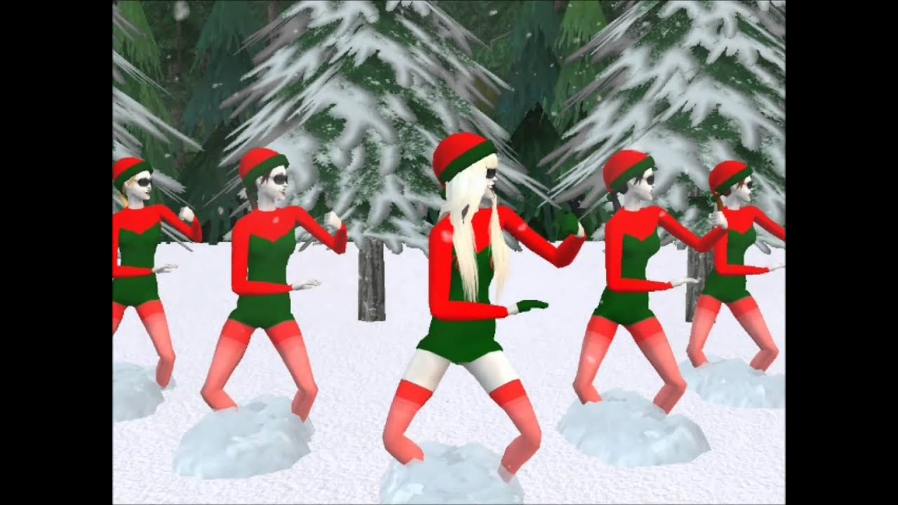Christmas Tree - Lady Gaga ft. space cowboy - Sims 2 HD