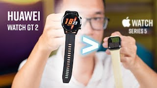 So sánh Huawei Watch GT 2 & Apple Watch Series 5