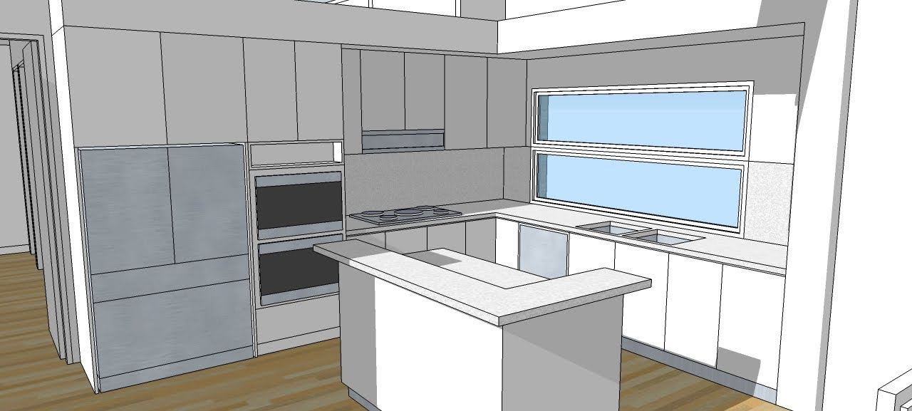 A11 interior design and kitchens a trebld and sketchup tutorial youtube Kitchen design software google sketchup