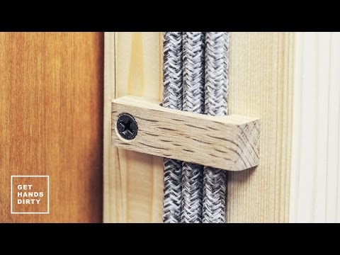 Loft Bed // Work Space : Cable Clips - Ep. 5.5