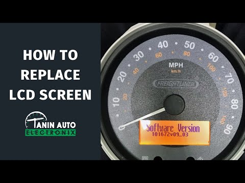 How To Install Replacement LCD Screen In Freightliner MT45, Workhorse Actia Instrument Cluster | TAE
