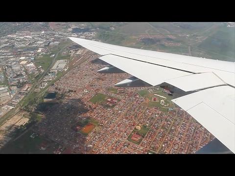 Lufthansa 747-8 Frankfurt - Johannesburg Safety, Takeoff, Inflight, Landing LH572