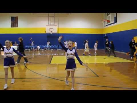 Castle North Middle Cheer team and school song!