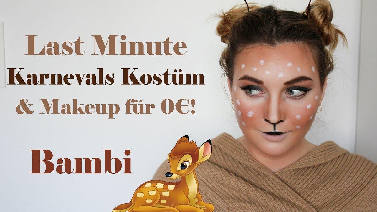 Easy Deer Bambi Makeup Tutorial Karneval Fasching Kostum Idee