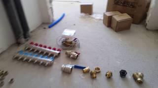 Merkezi sistemde kalorimetre ve kollektör montajı.
