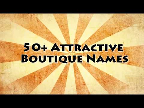 One Word Boutique Names
