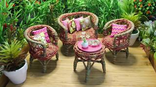 Barbie Dreamhouse: Miniature Outdoor Garden Deck | DIY Dollhouse