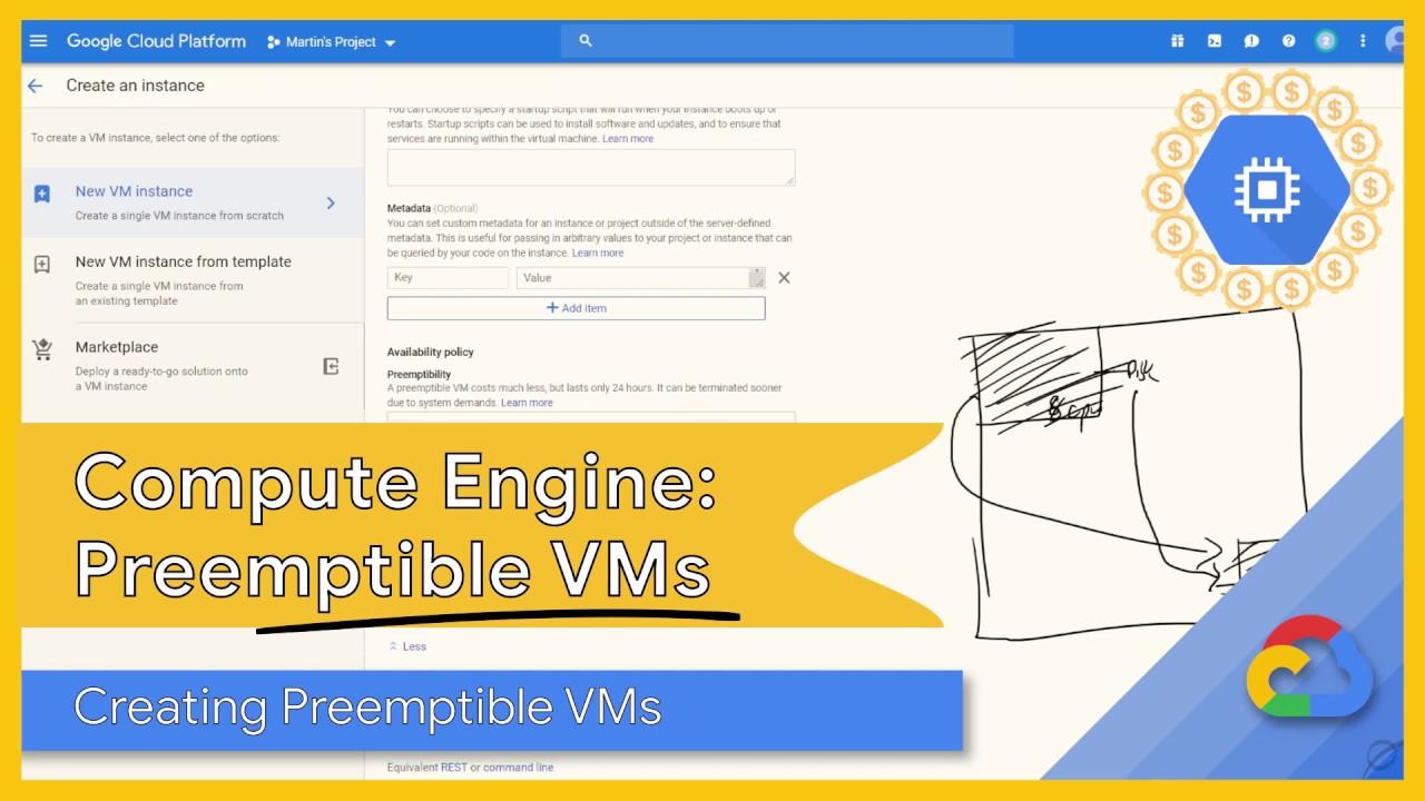 Google Cloud Preemptible Virtual Machines: Creating a Preemptible VM (Part  5/5)