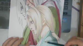 Speed Drawing - Jiraiya, Tsunade and Orochimaru (Naruto)
