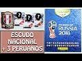 ¡ESCUDO NACIONAL + 3 PERUANOS!: APERTURA DE SOBRES ALBUM PANINI RUSIA 2018    PACK OPENING CHASQUI