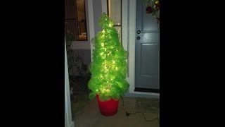 Repeat youtube video How to Make a Christmas Tree Using Deco Poly Mesh and a Tomato Cage  DIY Tutorial
