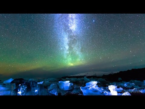 Night Sky Time Lapse Photography Milky Way on Iceland