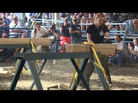 2017 STIHL Woodsman competition at the Sussex County Farm and Horse Show New Jersey State Fair