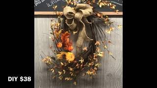 DIY Fall Leaf Wreath