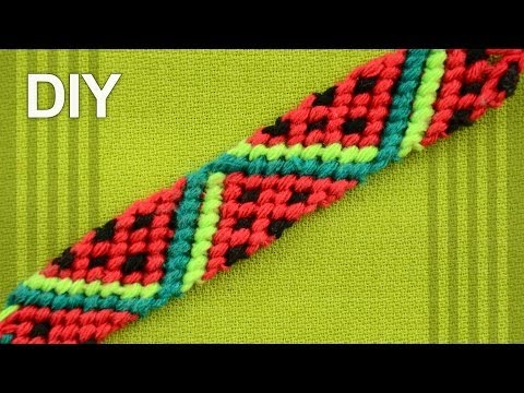 Friendship Bracelet - Watermelon Slices / DIY Tutorial