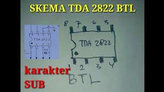 Skema TDA 2822 BTL di jamin suara lantang
