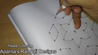 Simple Easy Rangoli Simple Knotted 5x5 Dots Kolam Designs