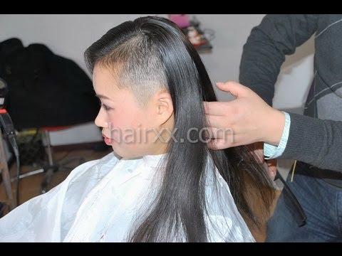 Hairxx 014 Half Head Shaved Bob Violet Short Crop
