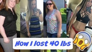 My Weight Loss & Fitness Story: I LOST 40 LBS!!