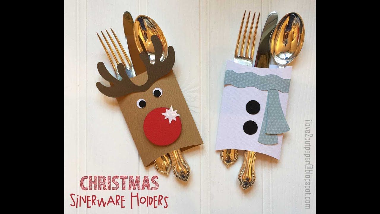 how to make the christmas silverware holders - Christmas Silverware Holders