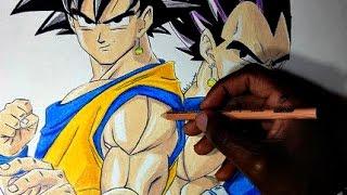 Drawing Goku and Vegeta