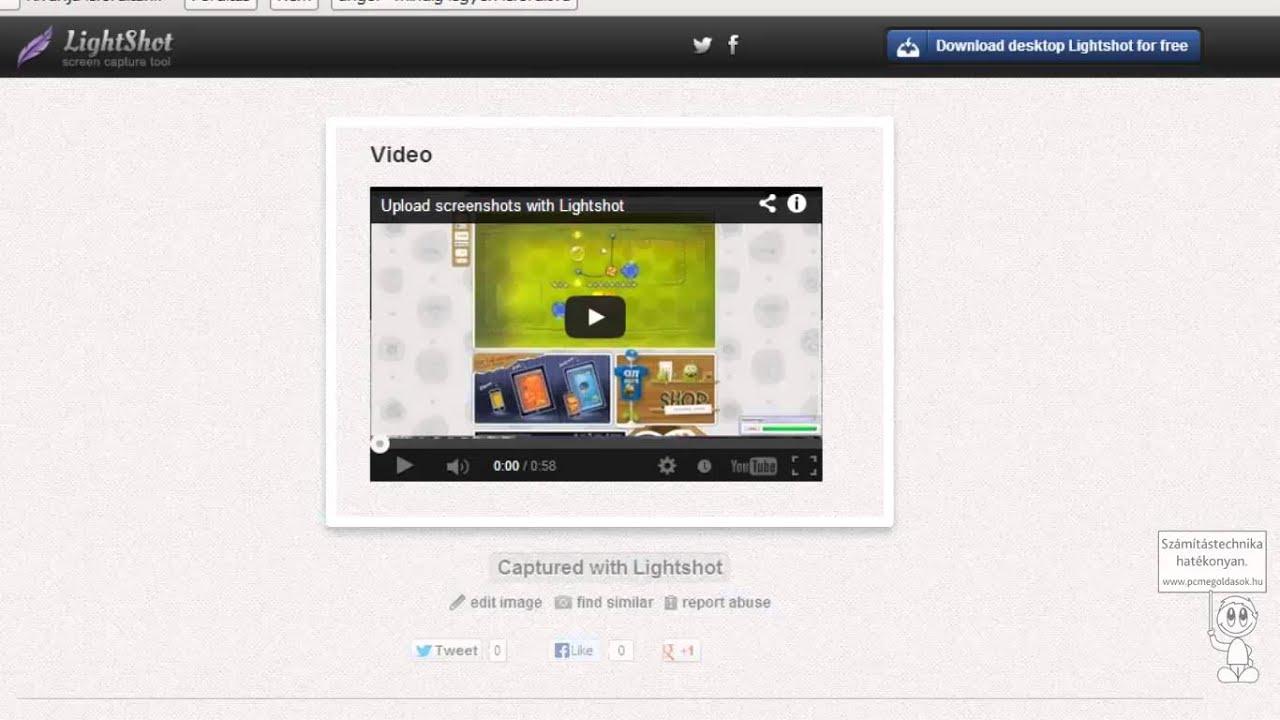 Képernyőkép mentés, szerkesztés, megosztás - lightshot