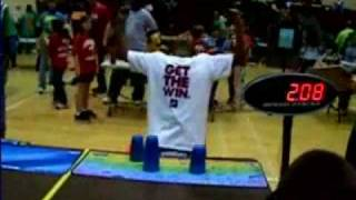 Boy, 10, Record Holder In Cup Stacking Competition