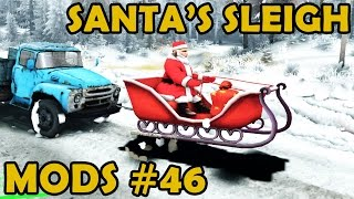 Spin Tires|mod Review #46 - Santa's Sleigh To The Rescue!