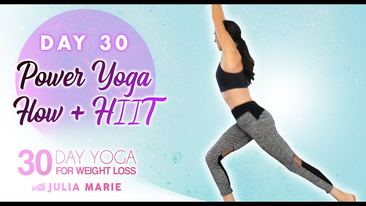 Power Yoga Flow + HIIT Workout, Weight Loss, Fat Burning, Agility | 30 Day Yoga Julia M Day 30