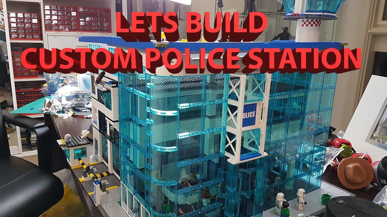 lets build  custom lego city police station hq moc
