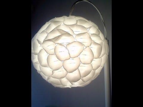 White sun c mo decorar una l mpara de papel ya hecha - Como decorar tulipas de lamparas ...