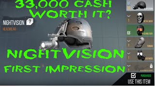 Nightvision helmet on Modern Strike Online - Awesome feature for 33k? What do you think?