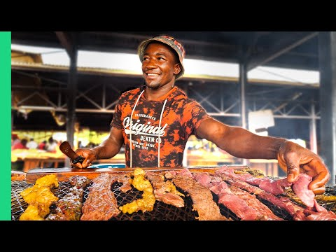 African Street Food in Namibia!!! OUTRAGEOUS Worms, Kapana and Rare Meats!!