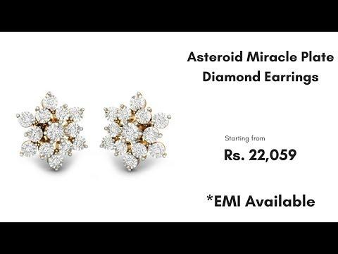 Asteroid Miracle Plate Diamond Earrings