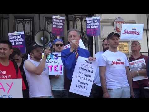 Solidarity With Polish LGBTs Against Homophobic Attacks - Polish Embassy, 24 August 2019
