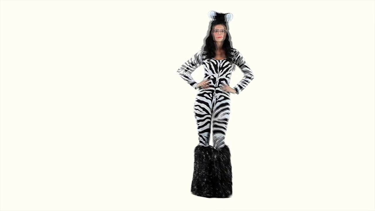 Wild Zebra Costume - ESCAPADE FANCY DRESS  sc 1 st  YouTube & Wild Zebra Costume - ESCAPADE FANCY DRESS - YouTube