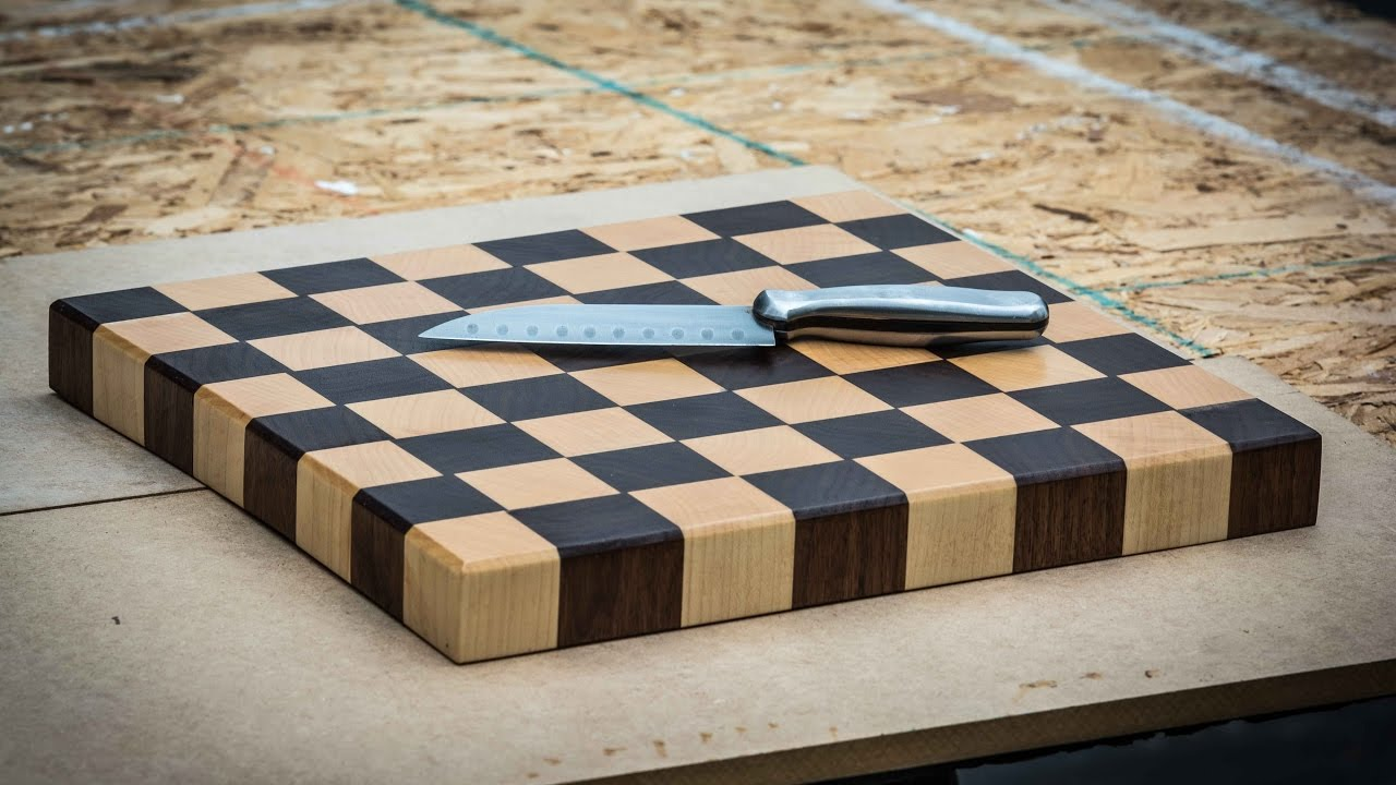 End Grain Cutting Board Maple And Walnut