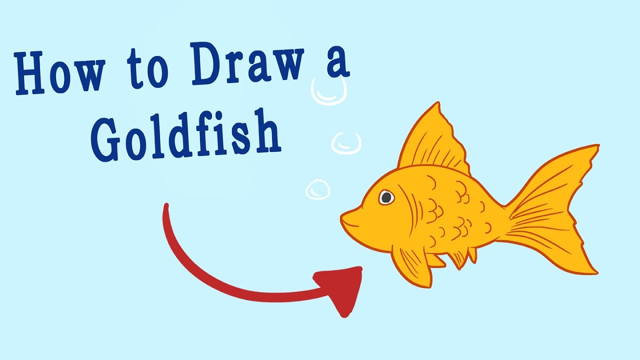 how to draw goldfish crackers