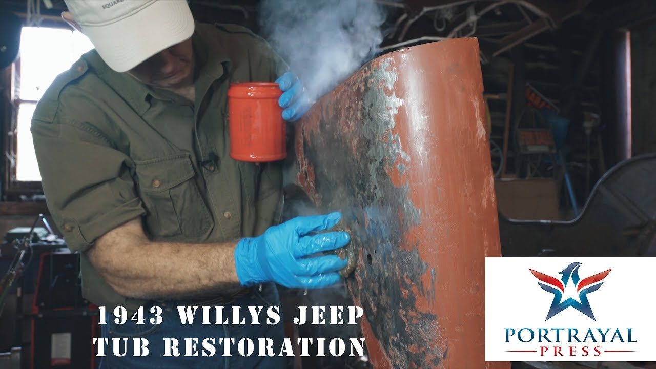 1943 Willys MB Jeep Tub Restoration Part 2 - Learning to Shrink Body Panels