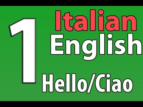 Italian/English Series 2 Video 1: Greetings/Saluti
