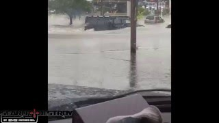 Hummer H1 FLOOD CROSSING! Search & Destroy H1 Tier 1 Hummer by EVS Motors Houston Flood Compilation