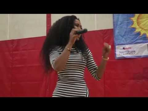 New Jersey's R&B and Pop artist Miesa performs at Healthy Leap into Summer Event