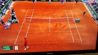 loudest out call in tennis   djokovic roland garros 2015