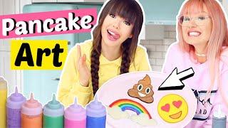 Pancake Art Challenge gegen BFF 👯 Battle | ViktoriaSarina