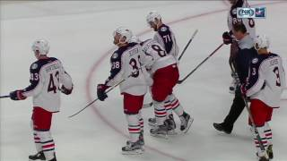 Werenski in immense pain after taking a puck off the ankle