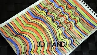 How To: Draw 3D Hand!
