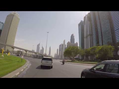 Dubai, UAE - Driving along the Sheikh Zayed Rd from WTC Roundabout to Burj Al Arab - HD Quality