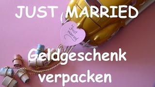 Geldgeschenke Hochzeit schön dekorieren und verpacken - DIY Geschenkideen zur Hochzeit