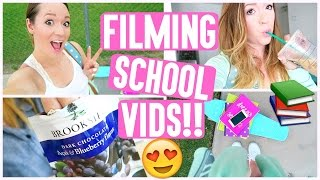 FILMING SCHOOL VIDEOS!!! + MY COMPUTER HATES ME!!!!