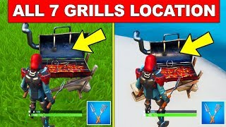 DESTROY GRILLS WITH THE LOW n' SLOW HARVESTING TOOL - ALL 7 LOCATIONS (14 DAYS OF SUMMER FORTNITE)